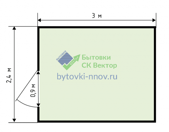Пост охраны 2x3 метра, БК-14 — Схема