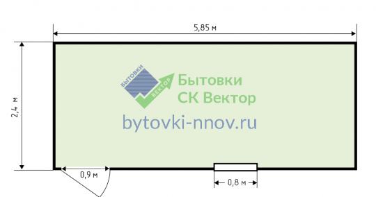 Блок-контейнер металлический 6х2.4 метра, БК-04 — Схема