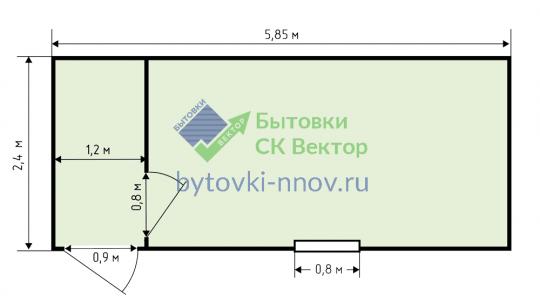 Металлический блок-контейнер 6х2.4 м, БК-05 — Схема
