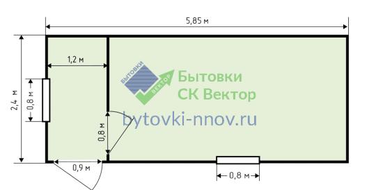 Блок-контейнер из металла 6х2.4 м, БК-06 — Схема