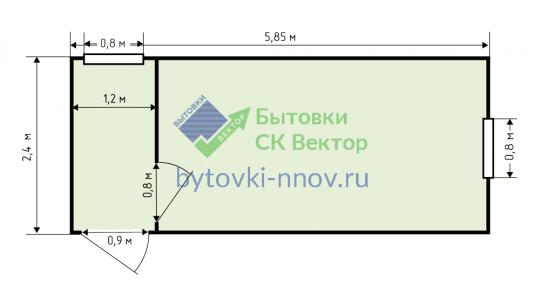 Блок-контейнер, металл, 6х2.4 м, БК-07 — Схема