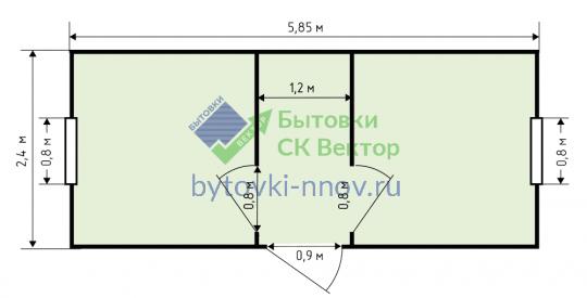Блок-контейнер 6х2.4 метра, БК-08 — Схема